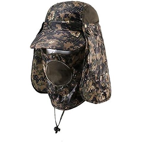 Outdoor sun protection Hat Camo jungle cappelli all'aperto fisherman Hat Cappello da sole traspirante e ad asciugatura rapida Hat,verde militare