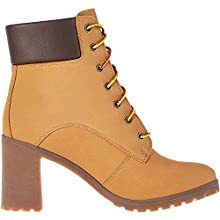 Timberland Women's Allington 6 Inch Lace Up High Boots, Wheat Nubuck, 6 UK 39 EU