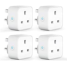 WiFi Smart Plug Mini Outlet, Aoycocr Smart Socket Energy Monitoring Remote Control, Alexa Plug Works with Amazon Alexa, Echo, Google Home and IFTTT, Timer Function, No Hub Required (4pack)