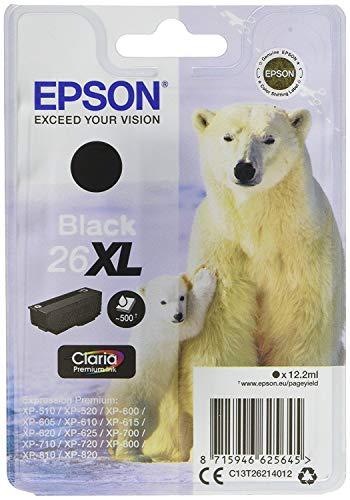 epson xp 620 Epson Original T26 Tintenpatrone Eisbär XL, Singlepack schwarz