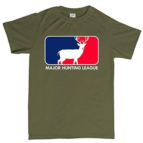 Major Hunting League Deer Camping Outdoor T-shirt TarngrŸn