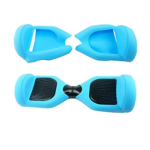 Tout Le Corps Protection Coque en silicone pour 6.5 Inch Wheels Swegway scooter (Light Blue)
