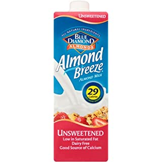 Blue Diamond Almond Breeze Unsweetened 1 L (Pack of 12)