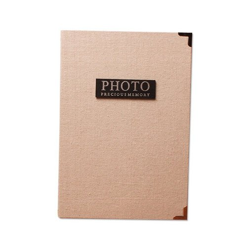 yiyo 200Taschen 12,7cm Retro Fuji Sofortbildkamera Mini Foto Album für Polaroid Fujifilm Instax Wide 210, Instant breit 200, Instant breit 300, Fujifilm FP 3000B, Fujifilm FP100C Filme–Beige