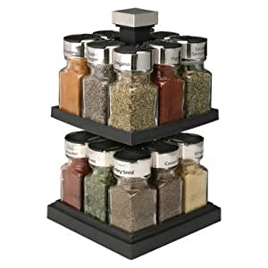 Olde thompson 16 jar filled carousel spice rack by old for Carousel spice racks for kitchen cabinets