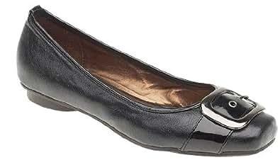 EyeCatchShoes - Vesta Flat Dolly Pump Ballerina Shoes Black Size 8