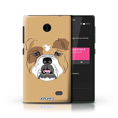 Kobalt® Imprimé Etui / Coque pour Nokia X / Chat noir conception / Série Museaux Chien/Bulldog