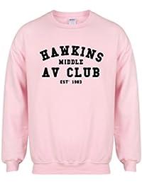 Hawkins Middle AV Club, EST 1983 - Pink - Unisex Fit Sweater - Fun