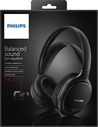 Philips SHC5200/10 kabelloser HiFi Kopfhörer schwarz - 5