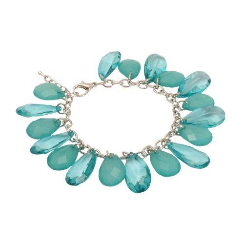 Bedazzled - Braccialetto con perline pendenti, turchese,