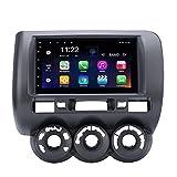 7 pollici HD Touchscreen Android 8.1 sistema di navigazione GPS per HONDA Jazz(manuale AC,RHD) 2002-2008 con radio FM Bluetooth