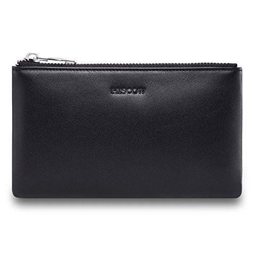 Hobo International Womens Wallet (hiscow Metall Reißverschluss Geldbörse Tasche mit Große Cash-fach–italienischem Kalbsleder)