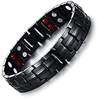 Black Men Titanium Bracelets & Bangles Magnetic Health Power Sports Jewelry
