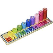 Tooky Toy - Juego educativo de madera para aprender a apilar y contar - A partir de 2 años
