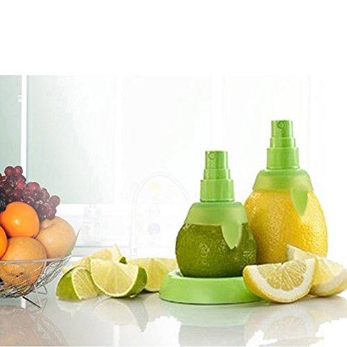 MMRM Hand Halten Zitrone Pressung Sprüh Entsafter Fruchtsaft Sprüher Vernebler – Grün - 6