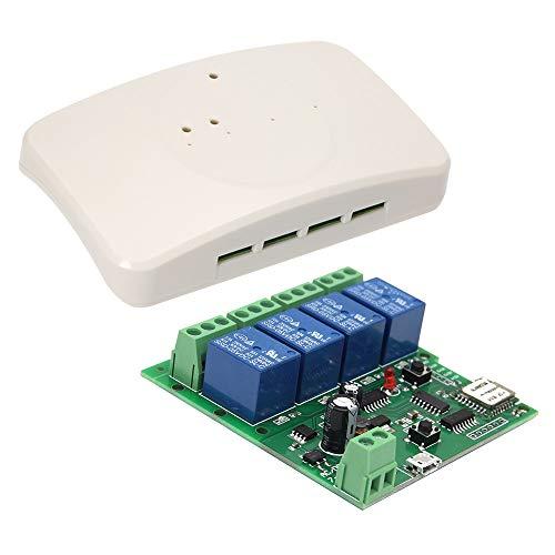 Festnight Smart Wireless Fernbedienung Schalter Sonoff, DC 5V 12V 32V Universal Modul 4CH Wifi Switch Telefon APP Fernbedienung mit Shell -