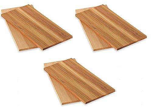 6pieza BARBACOA Tablas Tabla madera cedro asar grill