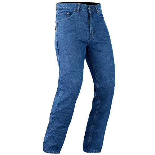 Bikers Gear Australia Pantaloni da motociclista, jeans taglio classico, con protezioni in kevlar DuPont Aramid rimovibili