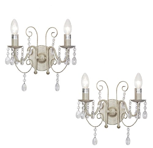 Pair-of-Traditional-Ornate-Shabby-Chic-Vintage-Style-Jewel-Twin-Arm-Wall-Lights