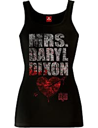 The Walking Dead The Walking Mrs. Dixon Female Top Black
