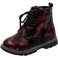 Quaan Kinder(21-30) Jungen Sneaker, Solide Stiefel Kinder Schnee Baby Beiläufig Tarnung Anti-Rutsch wasserdicht Warm Schnee Regen Weich atmungsaktiv Festival Retro Klassisch Schuhe
