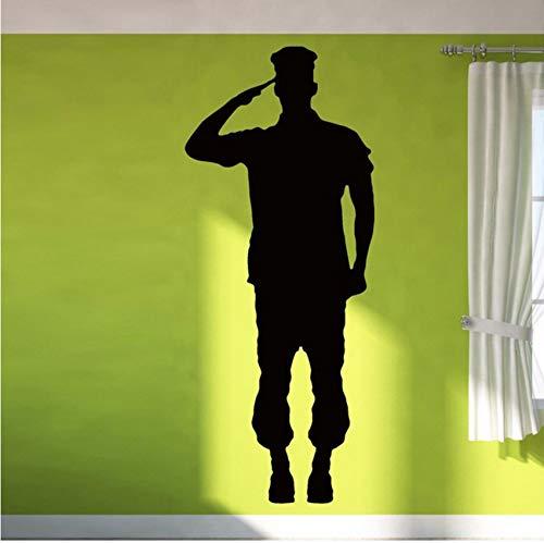 Lvabc Soldat Giving Gruß Tapete Aufkleber Wohnzimmer Jungen Vinyl Wandaufkleber Kindergarten Kinder Schlafzimmer Hobby Murals Dekoration 42X67 Cm