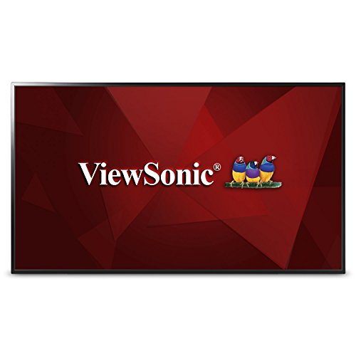 Viewsonic CDE4302 108 cm (43 Zoll) Digital Signage Display (Full-HD, VA-Panel, HDMI, USB, VGA, Mediaplayer, Lautsprecher) Schwarz -