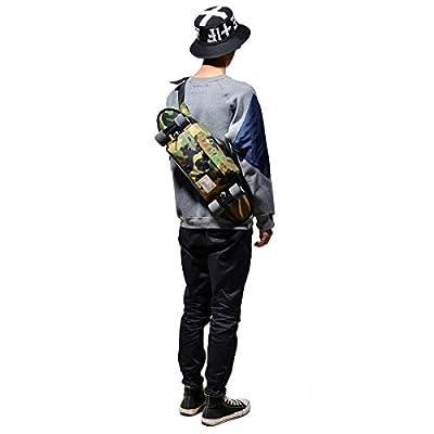 Huntfgold Skateboard Tasche Wasserdicht Camouflage Brusttasche Umhängetasche für Shortboard