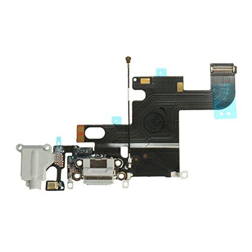 OnlyTech - Connecteur de Charge pour iPhone 6 Gris Clair - Nappe Interne Comprenant Le connecteur de Charge, la Prise Jack, Le Micro et l'antenne GSM - Compatible Apple