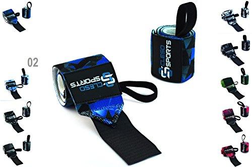 Cleso Sports Handgelenk Bandagen [Wrist Wraps] Handgelenkbandage Kraftsport, Crossfit, Bodybuilding & Fitness [2er Set]