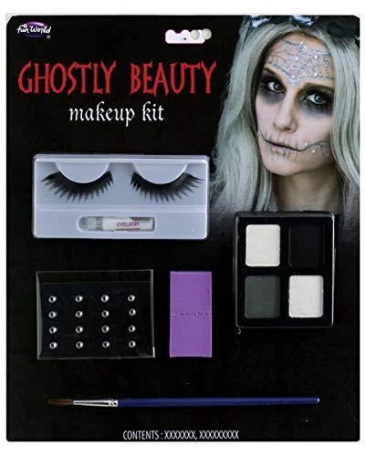 Horror-Shop Geisterbraut Make-up Set für Halloween, Gothic Party & Tag der Toten