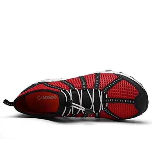 Sommer Outdoor Wasserdicht Wander Schuhe Damen Herren Sandale Atmungsaktiv Flach Trekking Kletter Sneaker Rot