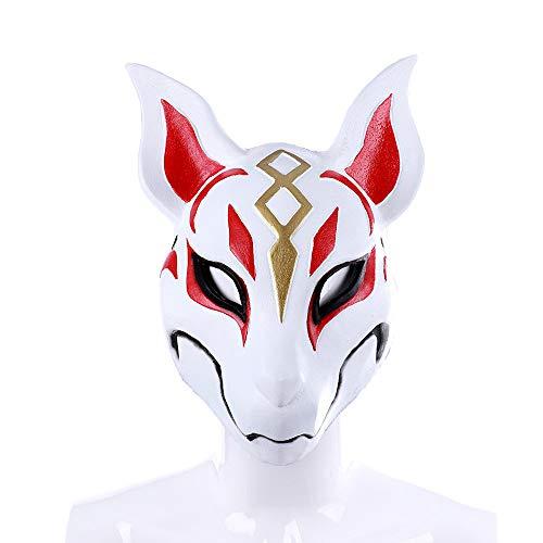 TTXLY Halloween-Maske Weiche und umweltfreundliche PU-Schaum-Spiel Cosplay Party Props Day Fox Mask