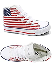 Scarpe Bimbo Bambino Ginnastica Original Marines Tela Sneakers America 77  (31) 90c02fe8512
