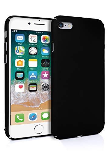 MyGadget Slim Fit Hardcase Hülle für Apple iPhone 6s 6 - Schutzhülle federleicht & Ultra dünn - Plastik Case Hard Cover Schutz Kratzfest in Matt Schwarz Schwarz Hard Case