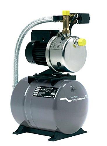 Grundfos 4661BPBB Hauswasserwerk JP6, Druckbehälter Volumen 60 L, Pumpengehäuse: Nichtrostender Stahl (Maximaler Betriebsdruck: 6 bar, Nennspannung: 1 x 220V - 240V, Laufrad: Edelstahl)
