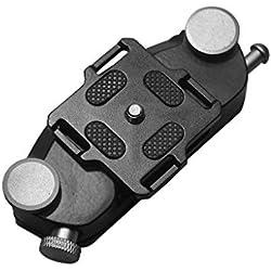 """FlYHIGH Cintura de la araña Cinturón de araña Funda Botón Clip de Montaje 1/4""""Tornillo Correa rápida Hebilla Dull Metal para cámara réflex Digital réflex Digital GoPro"""