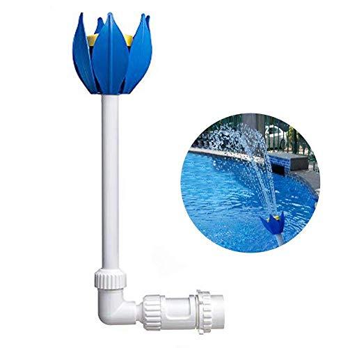 Ecisi Pool Deluxe 2-stufiger Blumen-Poolbrunnen, Lotus-Form-Design-Brunnen-Poolzubehör, einfache Installation, passend für 1-1/2-Zoll-Rücklaufdüsen mit Gewinde