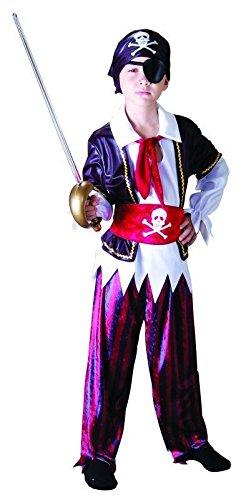 Foxxeo Piraten Kinderkostüm für Jungen Pirat Kostüm zu Fasching und Karneval Größe ()