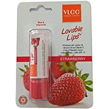 VLCC Natural Sciences Lovable Lip Balm Spf -15 - Strawberry (4.5g) (Pack of 2)
