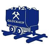 Glück Auf Lore Wandtattoo Gelsenkirchen Bottrop Ruhrpott Ruhrgebiet Schalke Oberhausen in 10 Größen und 19 Farben (50x41cm königsblau)