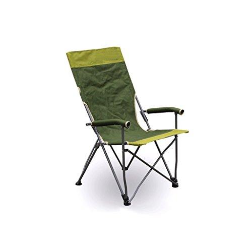 TangMengYun Luxus Folding Camping Stuhl Rückenlehne Strand Stühle Freizeit Stühle, geeignet für Angeln/Camping/Barbecue, Home Outdoor Klappstühle - Military Green - Stoff Stahl Bar Hocker