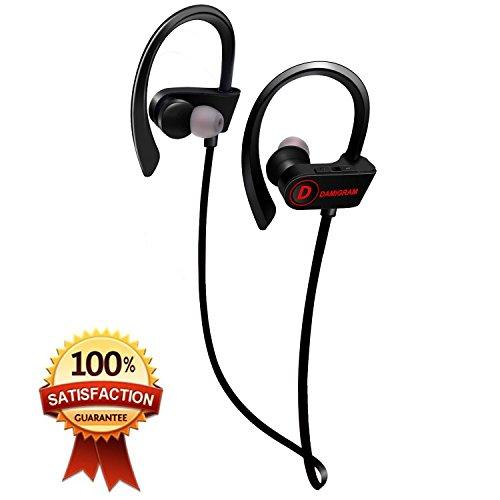 Cuffie senza fili Bluetooth, cuffie sportivi auricolari in-orecchio impermeabile stereo auricolare stereo auricolare per palestra a corsa