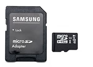 16GB Class 10 Micro SD SDHC UHS-1 Memory Card by Samsung Semiconductor Write Speed 20MB/S read speed up to 80MB/S