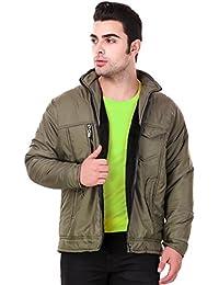 Lafantar Men's Regular Fit Nylon Jacket (mkt701dd) Green