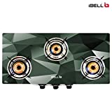 iBELL 03D4 Glass Top Gas Stove 3 Burner Premium