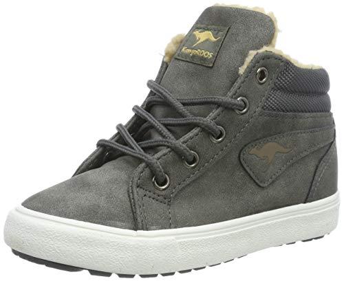 KangaROOS Unisex-Kinder KaVu I Hohe Sneaker, Grau (Dk Grey/Sand 211), 33 EU