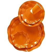 Vassoio ovale 30x45 cm arancio da portata in cartoncino
