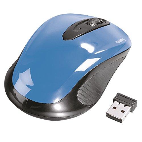 Hama-aM - 7300 Kabellose optische rF-pCnotebook Schwarz/Blau-USB (ambidextrös 86566)