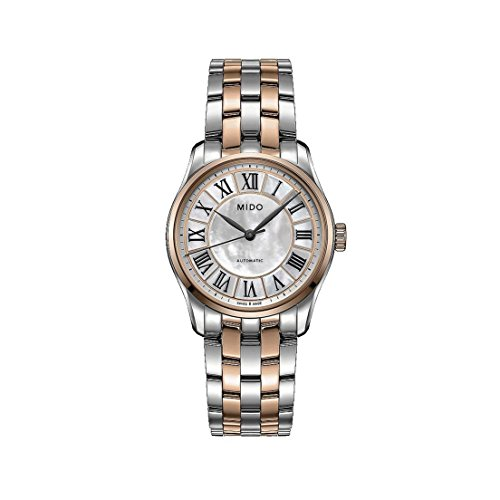 MIDO WOMEN'S BELLUNA II 33MM STEEL CASE AUTOMATIC WATCH M024.207.22.110.00
